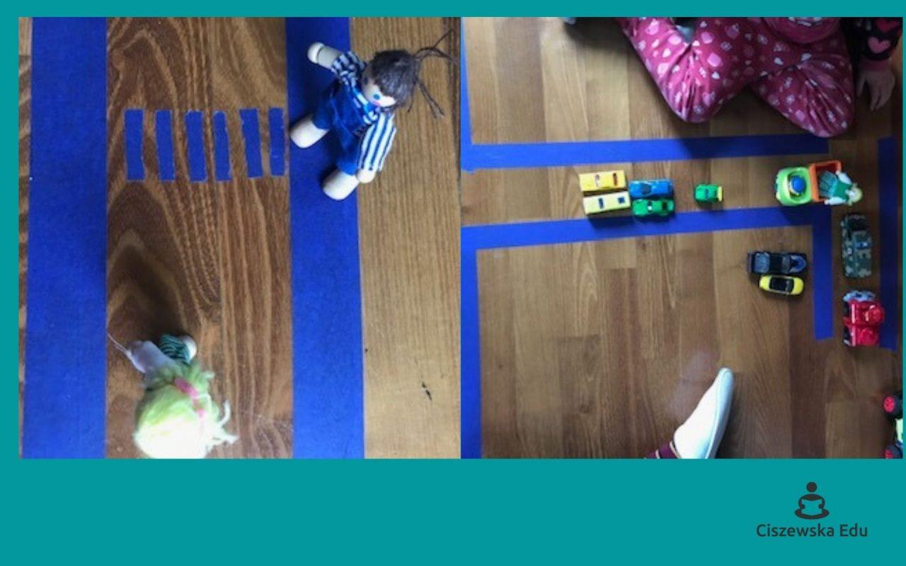 domowe zabawy skrzyżowanie z farby malarskiej